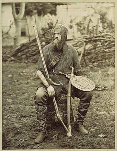Georgian mountaineer soldier from 19th century