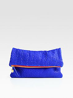 CLARE VIVIER - Fold-Over Leather Clutch