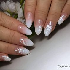 Simple but most elegent white floral nail art 2019 - Ruth Fe.- Simple but most elegent white floral nail art 2019 – Ruth Fer. Simple but most elegent white floral nail art 2019 – - Floral Nail Art, White Nail Art, Gel Nail Art, Gel Nails, Acrylic Nails, Nail Polish, Nail Nail, Elegant Nail Art, French Manicure Nails