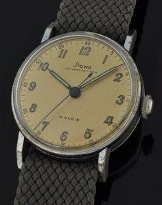 Vintage GERMAN WW2 MILITARY watch made by STOWA.