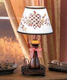 #616397014 Hearts & Stars Country Table Lamp by sensationaltreasures