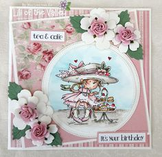 Scrapcards by Marlies It's Your Birthday, Birthday Cards, Tea Cakes, Distress Ink, I Card, Lily, Product Launch, Colours, Cute