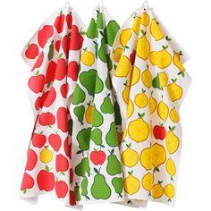 Kökshandduk Fruktsallad 3-pack