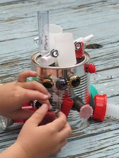Chose this because it seems to encourage creativity and looks like a lot of fun (also I love experimenting with magnets) -Preschool open ended activity with magnets