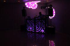Purple and Black DJ Booth