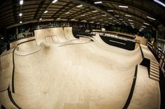 Where can you find a good place to ride BMX or skate when the weather is bad? Here are the best indoor skateparks in the UK. Indoor Places, Skate Park, Bmx, Chevrolet Logo, Architecture Design, Interior, Parks, Image, Skateboarding