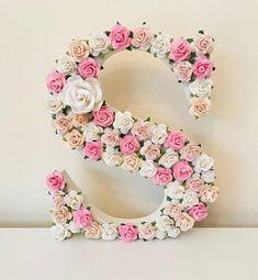 Pink and purple wallart pink and purple pink wall art Nursery Letters, Nursery Art, Girl Nursery, Nursery Decor, Flower Letters, Flower Frame, Flower Wall, Purple Wall Art, Purple Walls