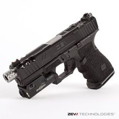 ZEVTECH Z19 #Spartan DLC • RMR cut (U.S. Patent No. 8,832,983) • ZEV RMR plate • ZEV Stainless threaded barrel (U.S. Patent No. D767,071 ) • ZEV V3 Combat rear sight • ZEV Fiber front sight • ZEV Gen4 magazine release • ZEV PRO  Magwell • ZEV PRO Trigger B/B • Stippled Grip [fingers on, double undercut, 50% backstrap reduction] • Surefire XC1  If you have questions about custom work please call customer service at 805-486-5800 or visit zevtechnologies.com  #zevtech #glock #ZEVbarrels…