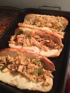 Crockpot Chicken Philly Cheesesteaks