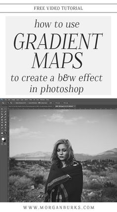 In this tutorial, I'll show you how to use Gradient Maps to convert an image to black and white. | Find more free tutorials at www.morganburks.com