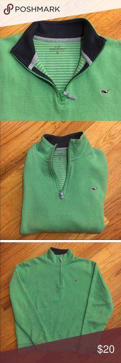 Vineyard Vines Quarter Zip (BOYS) BOYS XL. Fits me and I'm a XS. Turquoise. Gently used. Slight pilling. Vineyard Vines Other