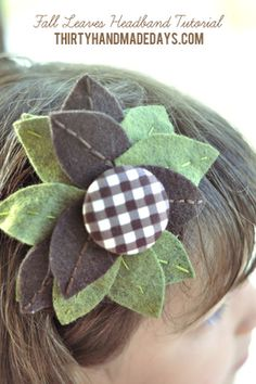 Free Felt Patterns and Tutorials: flowers and leaves
