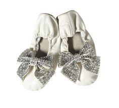 Tutu du Monde Sparkle & Fade ballet flats in off white available at www.kokoblush.com