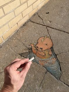 David Zinn - The Care and Feeding of Your Anamorphic Friends, tip #1: Always show them a menu first, even though they're always going to ask for the same thing