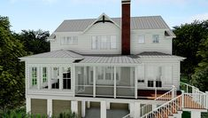 Eldridge Bay Cottage - Coastal Home Plans Coastal House Plans, Cottage House Plans, Coastal Farmhouse, Farmhouse Plans, Coastal Cottage, Coastal Homes, Cottage Homes, Modern Farmhouse, Cottage Ideas