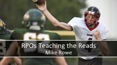 RPOs Teaching the Reads by Coaches Clinic Football Warm Up Drills, Football Techniques, Trauma, Coaching Personal, Mike Rowe, High School Football, American Football, Football Helmets, Clinic