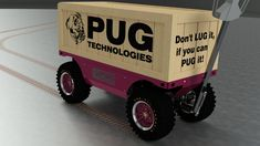 Don't LUG it. if you can PUG it! Electric Utility, Electric Motor, Truck Boxes, Chain Drive, Workplace, Pugs, Pallet, Monster Trucks, Deck