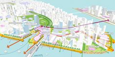"""Image 17 of 23 from gallery of Sasaki's """"Forest City"""" Master Plan in Iskandar Malaysia Stretches Across 4 Islands. Circulation Diagram. Image Courtesy of Sasaki Associates"""