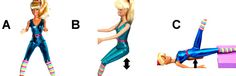 Moves for a fit butt; Barbie demonstrates!