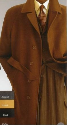 Vitorri Angel Full length 4 button Hidden Button wool blend Coffe~brown top coat