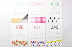 Desk Calendar 2016 Monthly Wall Planner Office by WhenItRainsShop