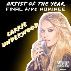 Congrats to @CarrieUnderwood, who made it to the final round of nominees for #AMAs Artist of the Year!  The voting deadline is ending! VOTE: AMAvote.com  Vote also for Twitter:  I vote for @carrieunderwood for #AMAs Artist of the Year!  #CarrieUnderwood #AMAs #ArtistOfTheYear #2016 #Country #CountryMusic #CountryGirl #Queen #Vote #Singer #Voting #AOTY #AmericanMusicAwards