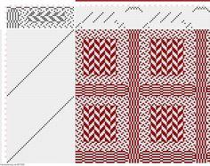 draft image: Figure 3048, Atlas de 4000 Armures, Louis Serrure, 16S, 50T Weaving Patterns, Textile Patterns, Textiles, M Design Logo, Graphic Design, Dobby Weave, Pattern Drafting, Loom Weaving, Fiber Art