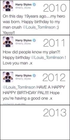 Larry shippers did this.it drove them apart.<<< way to go larry shippers. Way to go<<<<there are SOME Larry shippers who ship them as a bromance.so don't blame us all! One Direction Fotos, Four One Direction, One Direction Humor, Direction Quotes, Fanfic Larry Stylinson, Larry Shippers, Harry Styles 2010, Happy Birthday To Him, Yours Sincerely