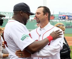 David Ortiz and Tim Wakefield after Wakey retired.  2012