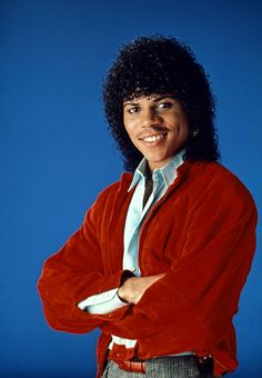 """Stoney Jackson (c. played Jesse B. Mitchell - he danced in Michael Jackson's """"Beat It"""" video 80s Mullet, Black Hair History, Michael Jackson Poster, Hair Chart, High Top Fade, 1980s Hair, Jheri Curl, Afro Curls, Black Royalty"""