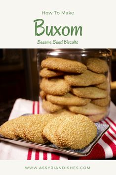 How to make Buxom / Sesame Seed Biscuits (Assyrian Food) Assyrian Dishes, Assyrian Food, Assyrian Recipes, Assyrian Cooking, Assyrian Desserts Full Recipe: h. Learn To Cook, How To Make, Food Videos, Biscuits, Dishes, Cooking, Breakfast, Desserts, Recipes