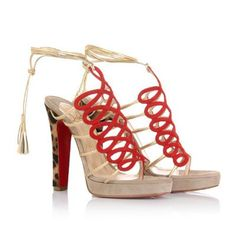 Best Price Christian Louboutin 120mm Salzburg And Pony Sandals Red Sole Shoes Free Exchanges Comfortable Famous-Brand