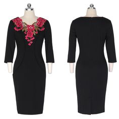 5 Types Of Dresses, Dresses For Work, Formal Dresses, Bodycon Work Dress, Gaines, Office Ladies, High Neck Dress, Female, Stylish