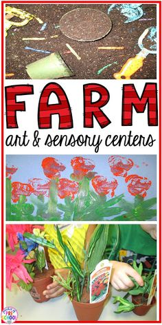 Farm art and sensory themed centers and activities for your early childhood…