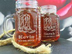 18 Wedding Mason Jar with Handle Bridesmaid by weddingpartygifts