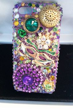 Free US Shipping 1/2 OFF SALE Mardi Gras by bluehoneyjewelry