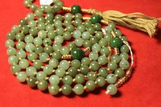 Jade Prayer Beads Japa Mala Buddhist with 108 Beads by QuietMind, $175.00