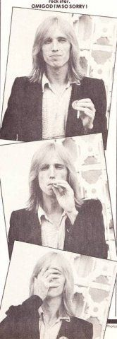 Tom Petty being adorable. My Tom, Tom Petty, Rhythm And Blues, Rockn Roll, Rock Legends, American Girl, American Legend, Jim Morrison, Stevie Nicks