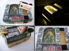 Stained Glass Zelda Custom NES by mbtaylorproductions on DeviantArt