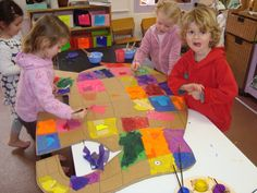 Class Elmer Activity- Each child gets a square to decorate that represents him/her.