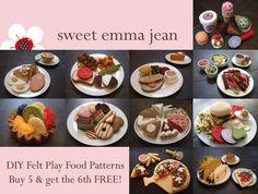 Gefühlt spielen Essen Muster PDFs  Buy fünf von sweetemmajean