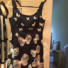 Talbots butterfly Dress Gorgeous dress only worn a few times. Talbots Dresses