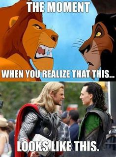 Not sure if they're acting or just mad at each other. Or maybe Tom hiddleston actually acts like Loki :O