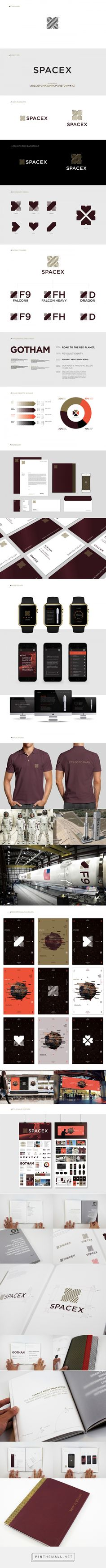 SpaceX Rebranding on Behance - created via https://pinthemall.net