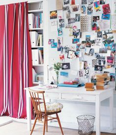 Great workspace from a new book called 'A Space Of My Own' by Caroline Clifton-Mogg.