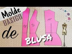 BÁSICO DE BLUSA/ Bertha Buritica Clase #3 - YouTube Sewing Techniques, Fiber Art, Embroidery Designs, Sewing Patterns, Make It Yourself, Youtube, Corsage, Berta, Draping
