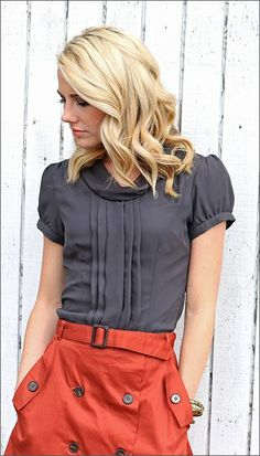 chifon cowl neck top-- in black and cream!  https://www.facebook.com/FashionologieEdina