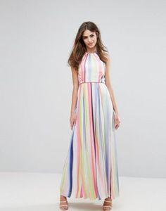 Coast Lisbon Striped Maxi Dress