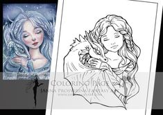 Digital Stamp, Printable, Instant download, Digi stamp, Coloring page, Art of Janna Prosvirina Coloring Books, Coloring Pages, Create Collage, Fairs And Festivals, Detailed Image, Digi Stamps, Collage Sheet, Craft Fairs, The Book
