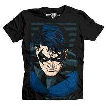 Playera Ala Nocturna Mascara De Latex Nightwing Dc Batman